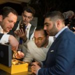 cohiba Zenith event people staring at watch and case