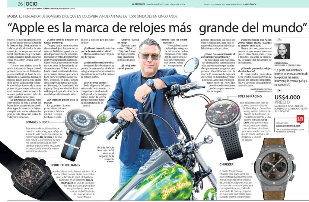 Rick De La Croix interview La República